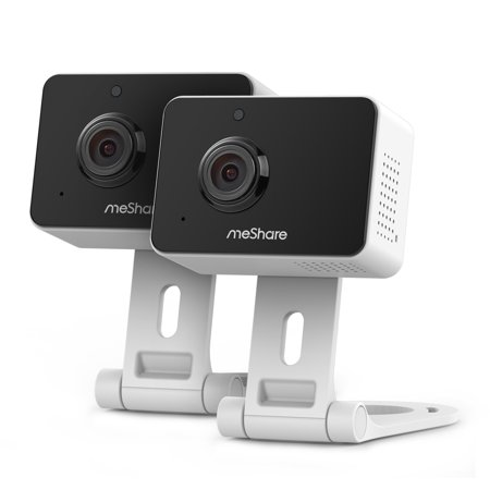meShare 1080p Mini Wireless Two-way Audio Camera 2-Pack