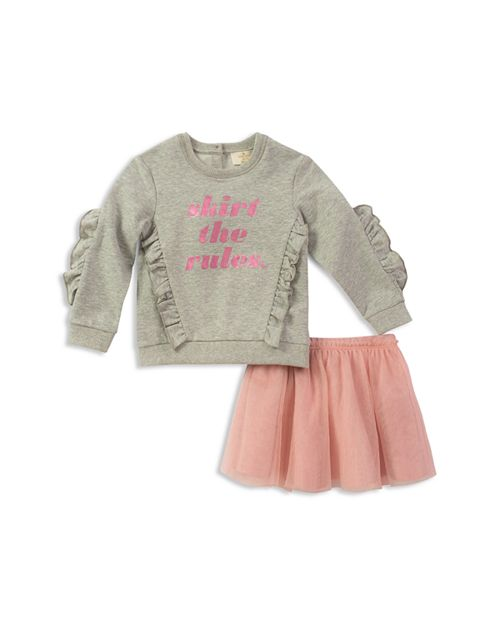 Kate Spade Girls' Skirt the Rules Sweatshirt & Tulle Skirt Set