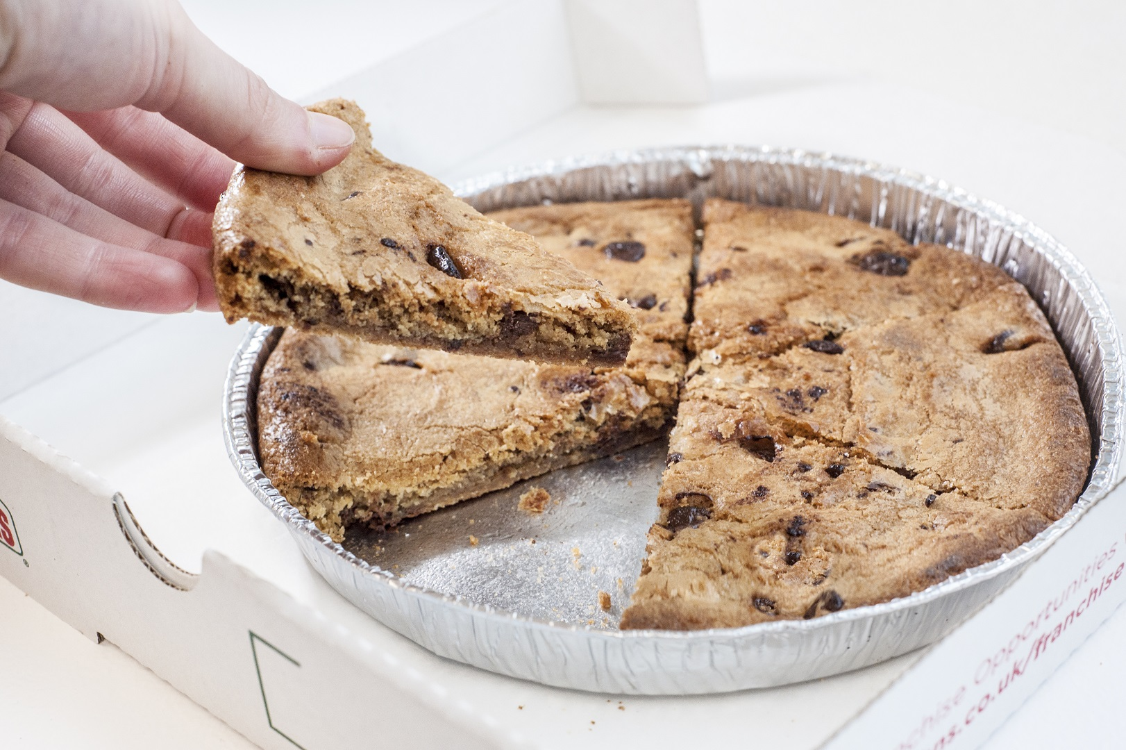 Giant Chocolate Chip Cookie Pizza Slices