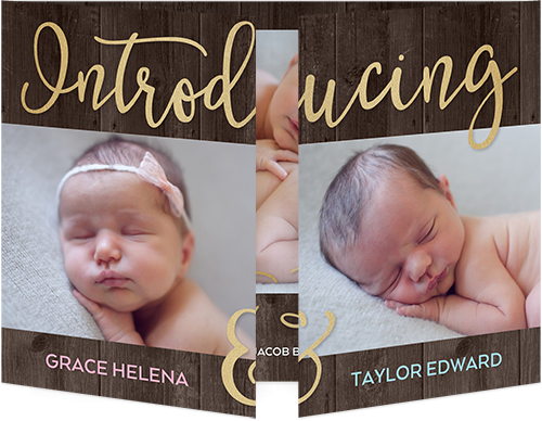 Twin Baby Birth Announcement