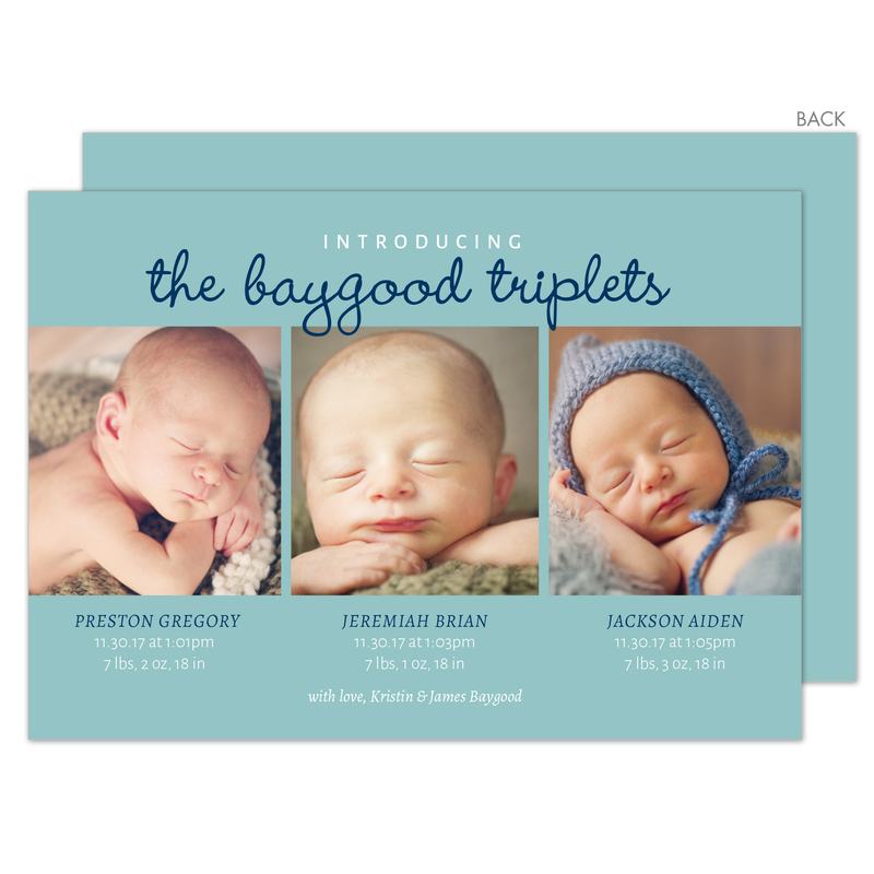 Triplet Birth Announcement