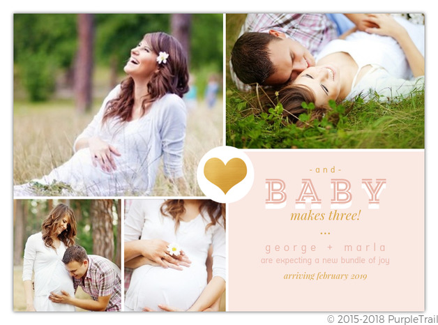 Collage Pregnancy Announcement