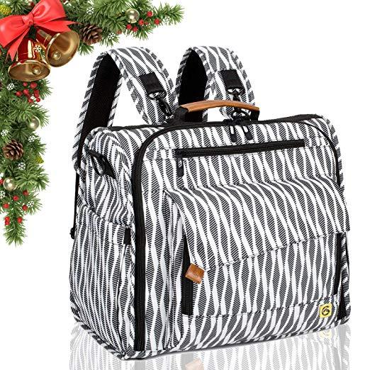 ALLCAMP Convertible Diaper Bag Backpack