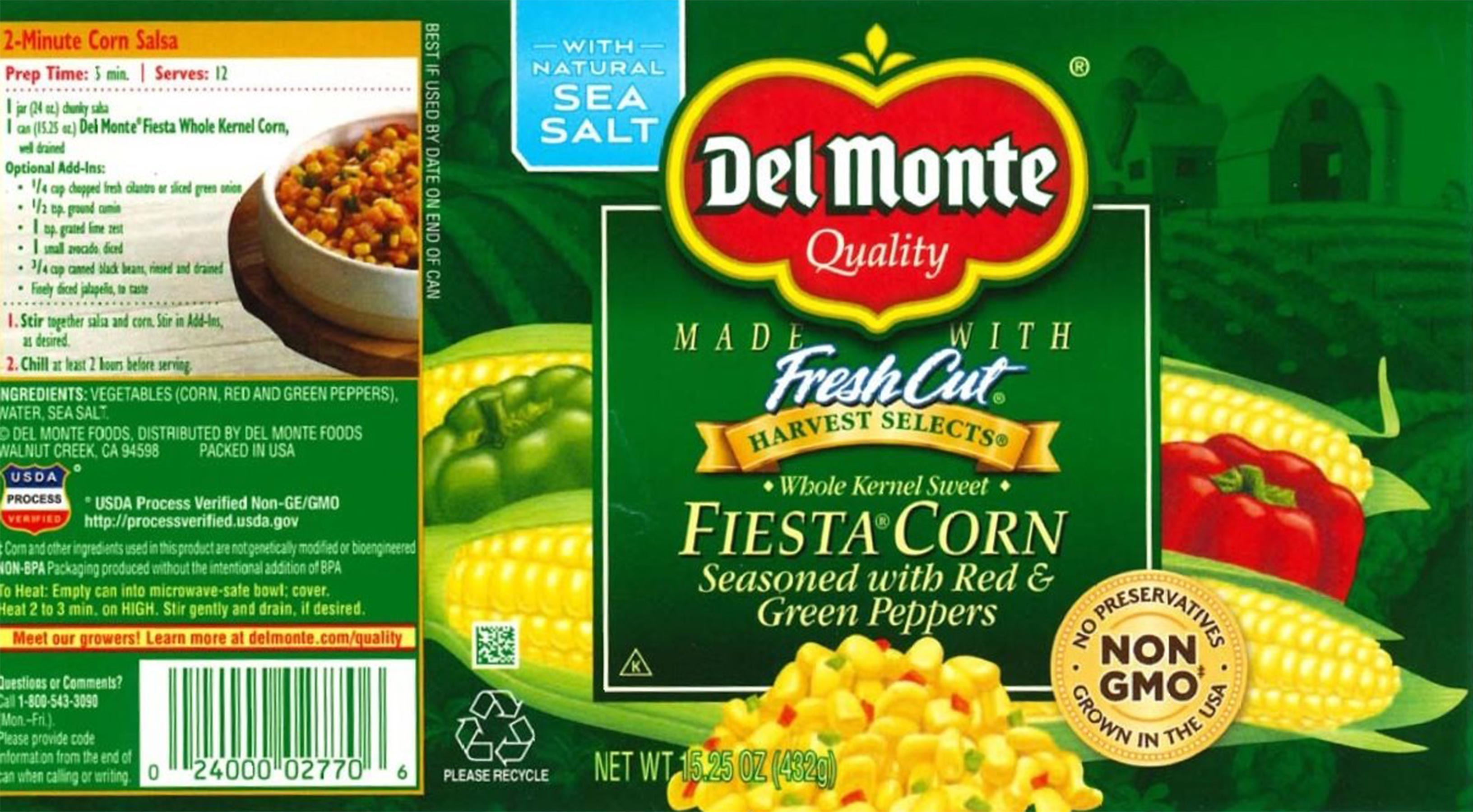 Del Monte Corn Fiesta Red and Green Peppers