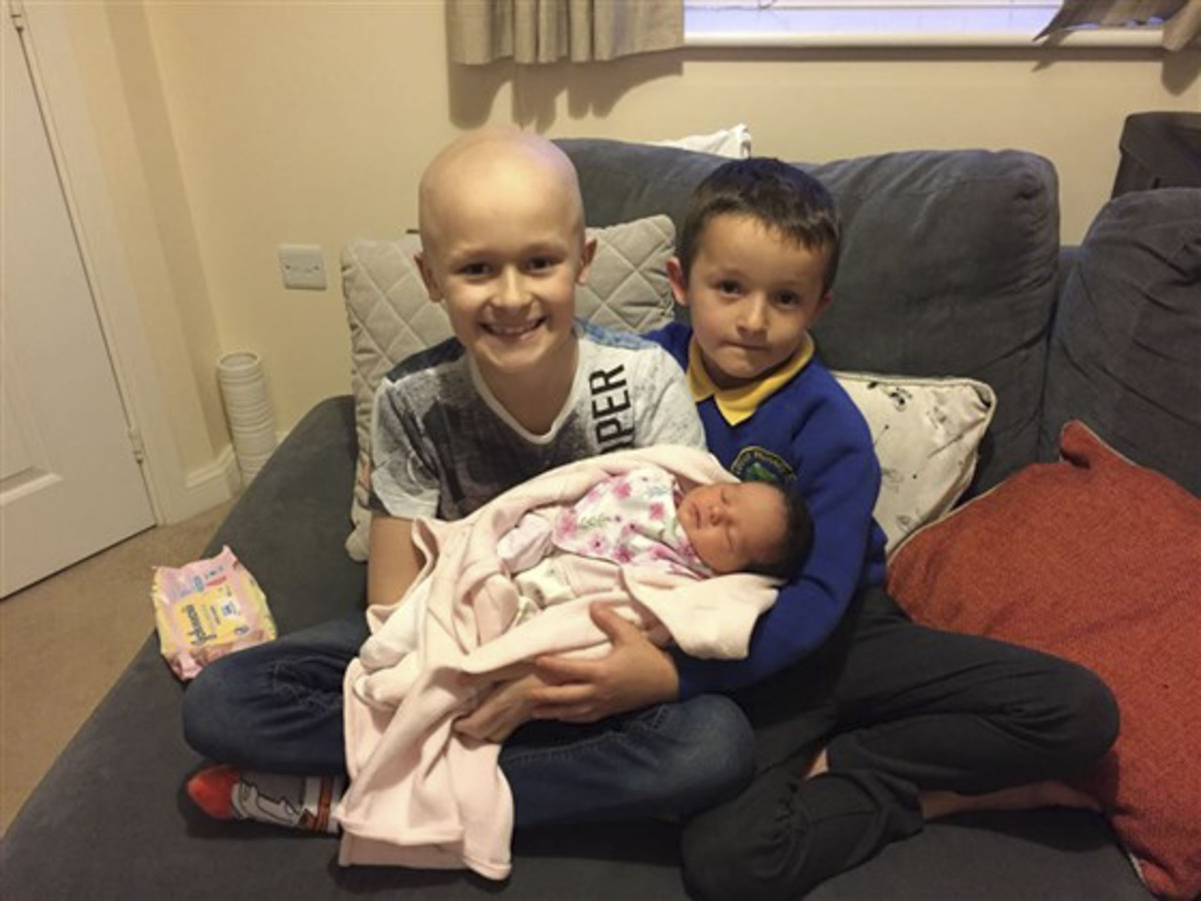 9-Year-Old Lives to Meet His Newborn Baby Sister Before Dying of Cancer: 'He Managed to Hang On'