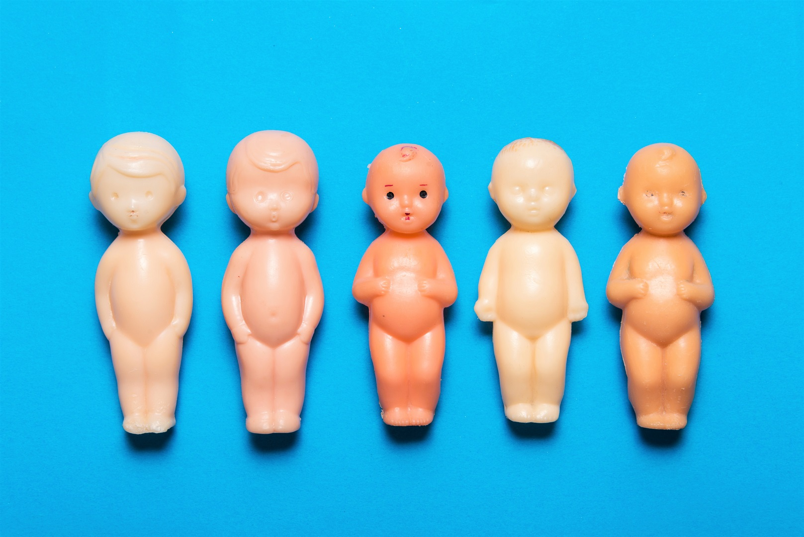 Plastic Baby Doll Figurines