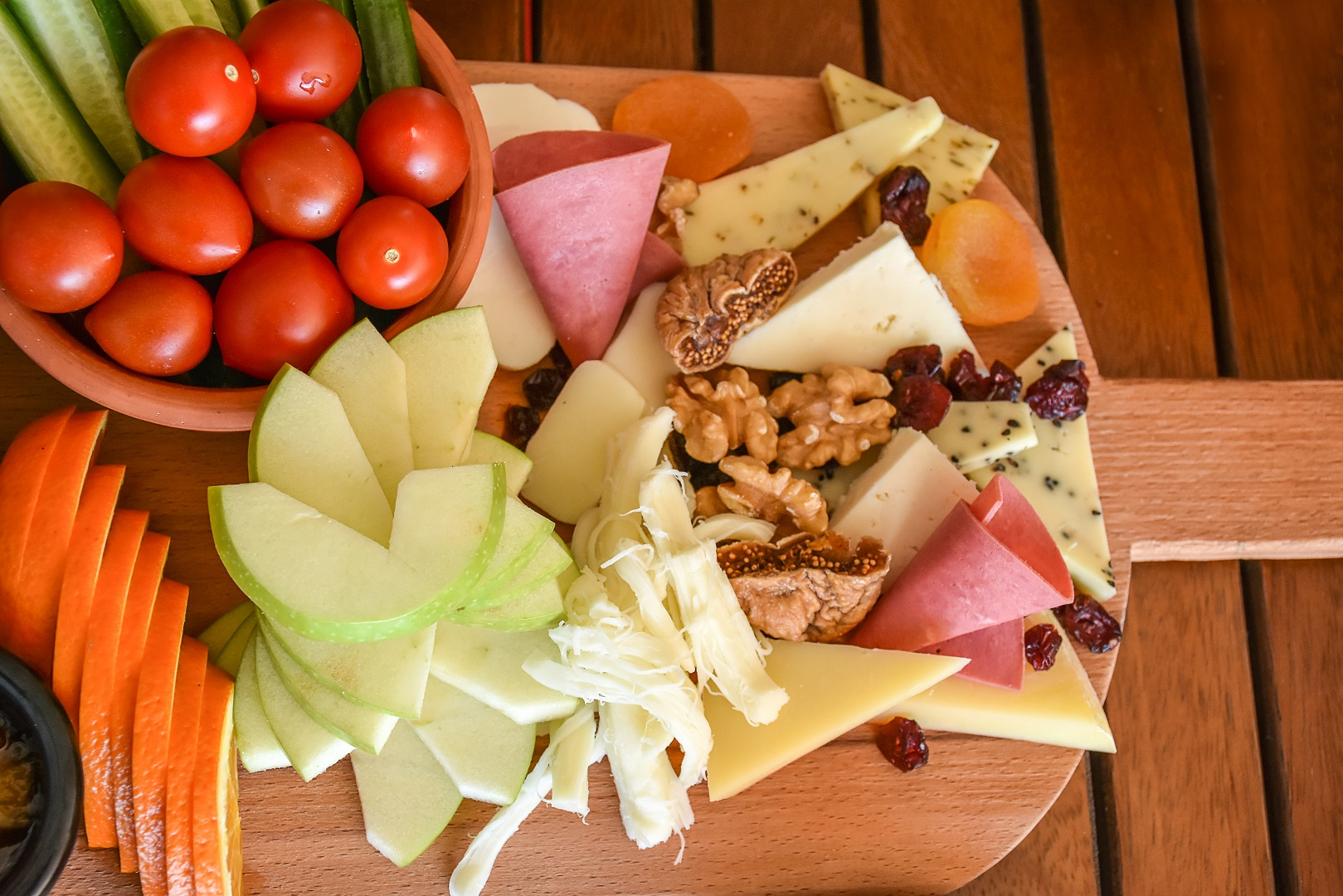 Vegetables Fruit Nuts Cheese Platter