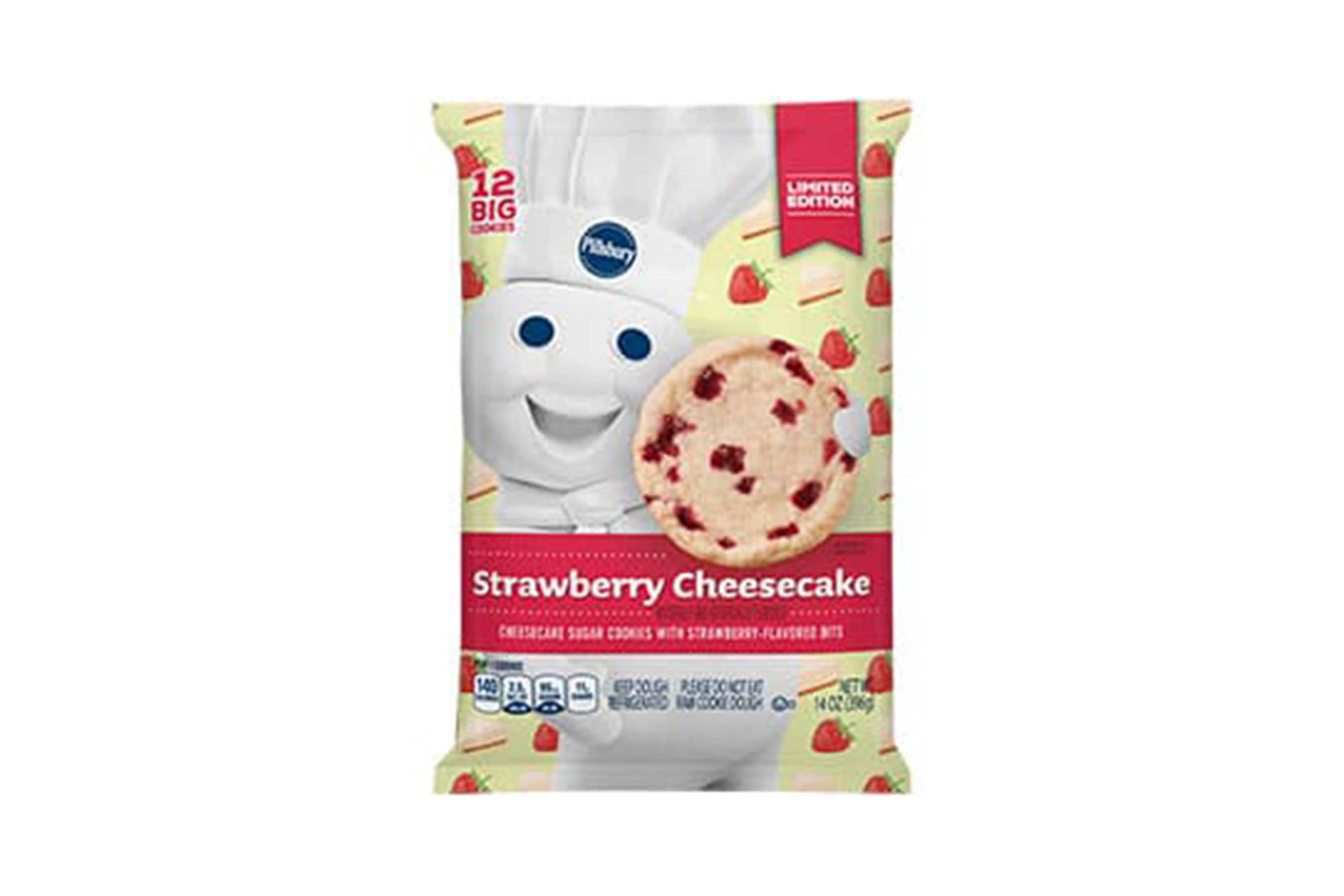 Sorry Resolutions! Pillsbury Debuts Limited Edition Sugar Cookies Flavor Strawberry Cheesecake