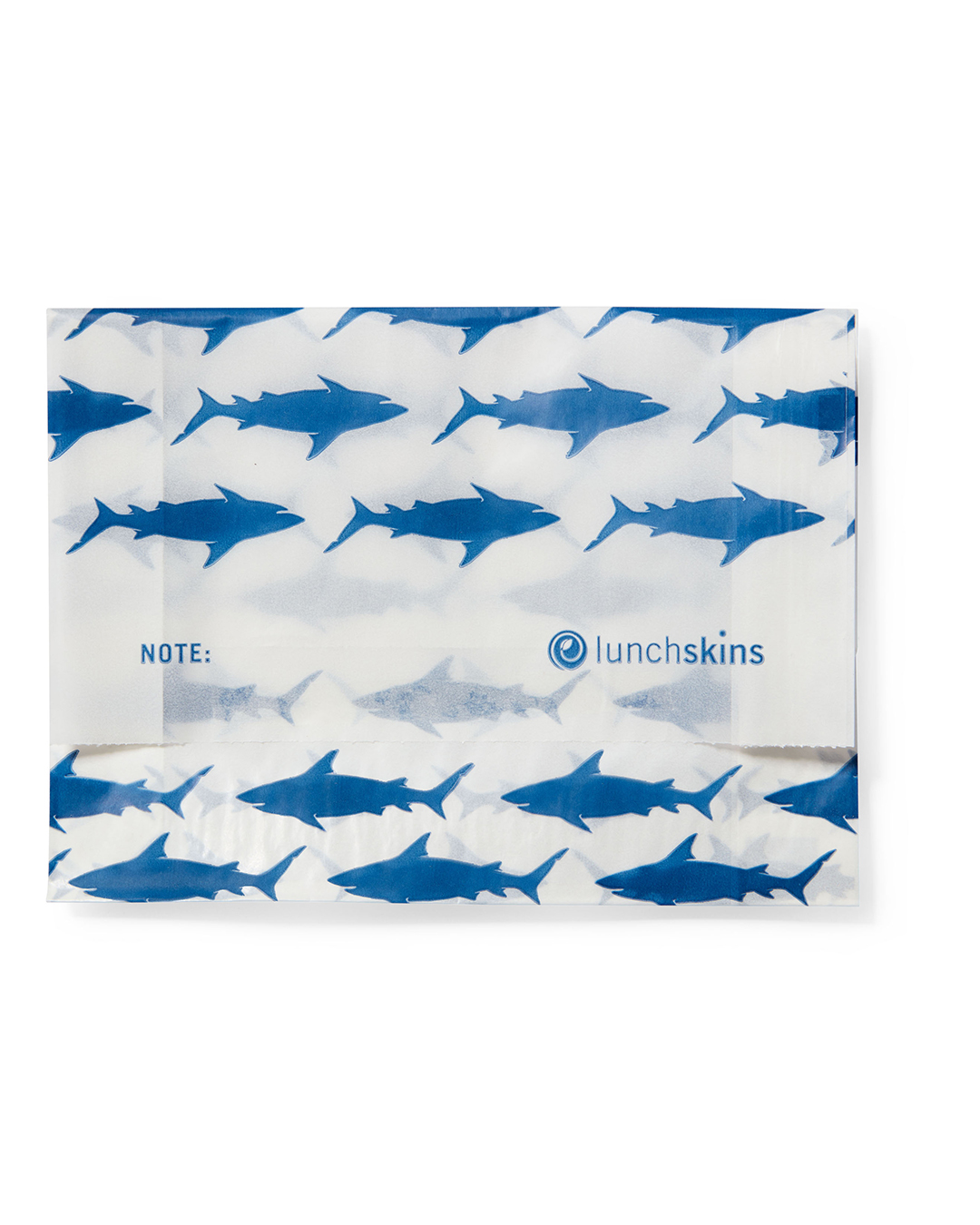 paper sandwich bags with blue sharks