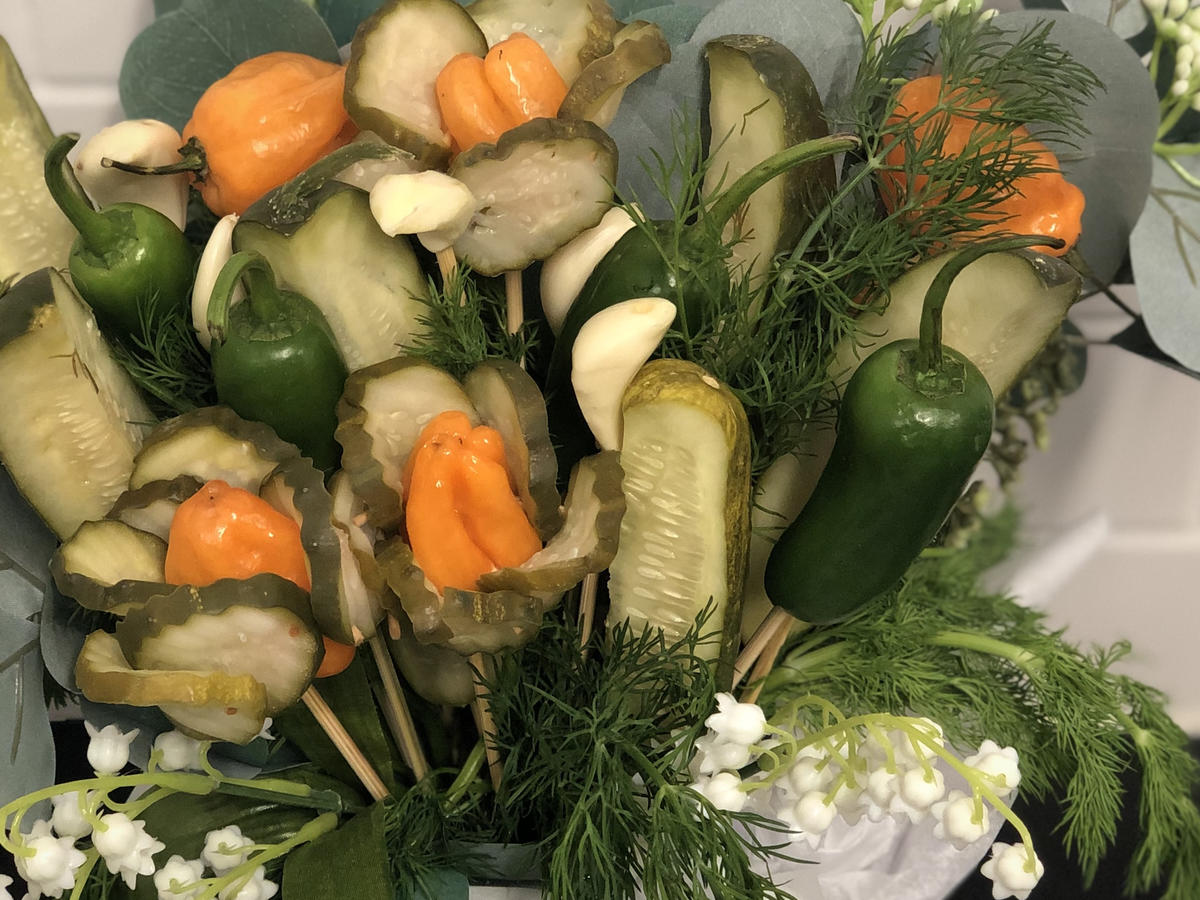 Who Needs Flowers When You Can Have a PICKLE BOUQUET?!