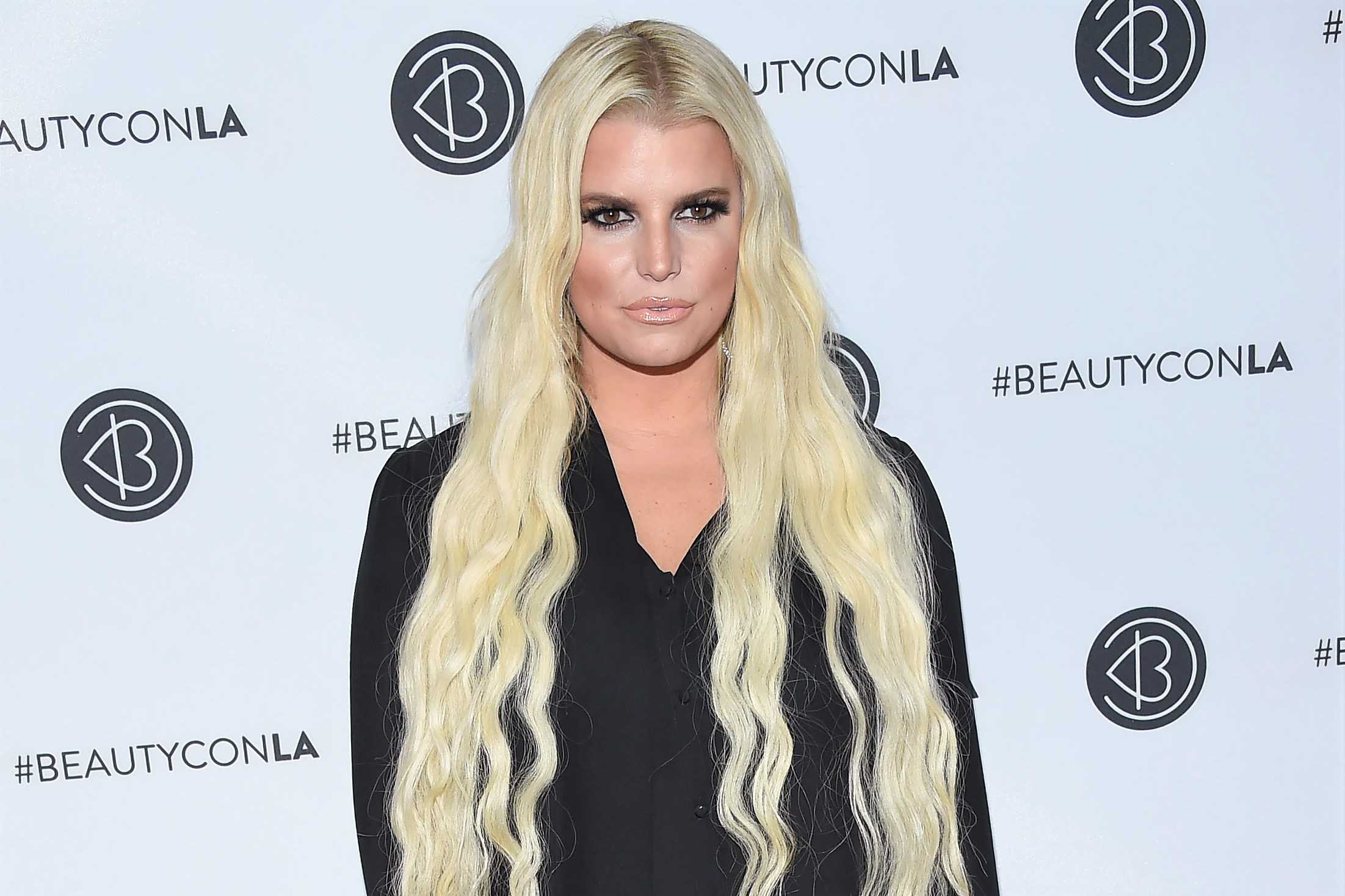 Jessica Simpson Long Blonde Hair 2019