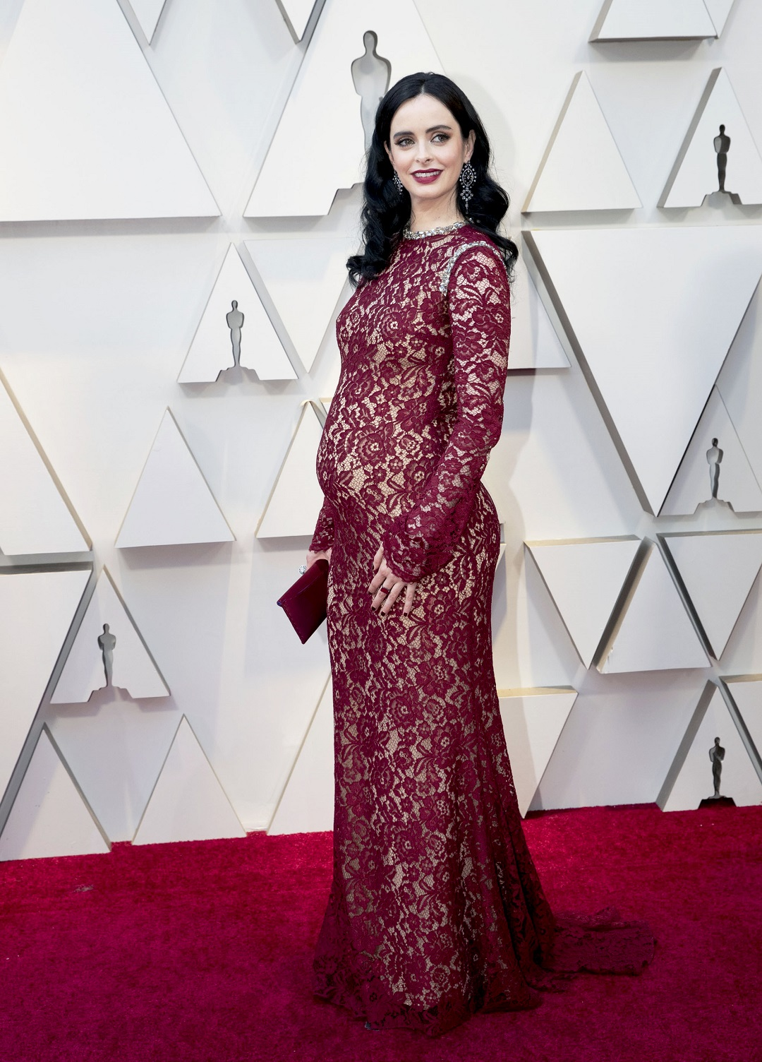 Krysten Ritter Is Going to Be a Mom! Actress Debuts Baby Bump on the 2019 Oscars Red Carpet