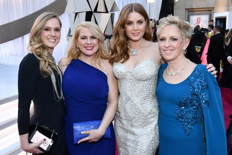 Amy Adams With Sisters Anna and Julie and Mother Katheryn Oscars 2019