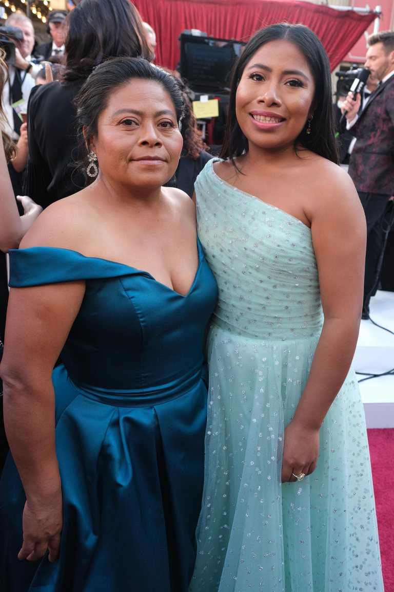 Yalitza Aparicio and Mother Margarita Aparicio Oscars 2019