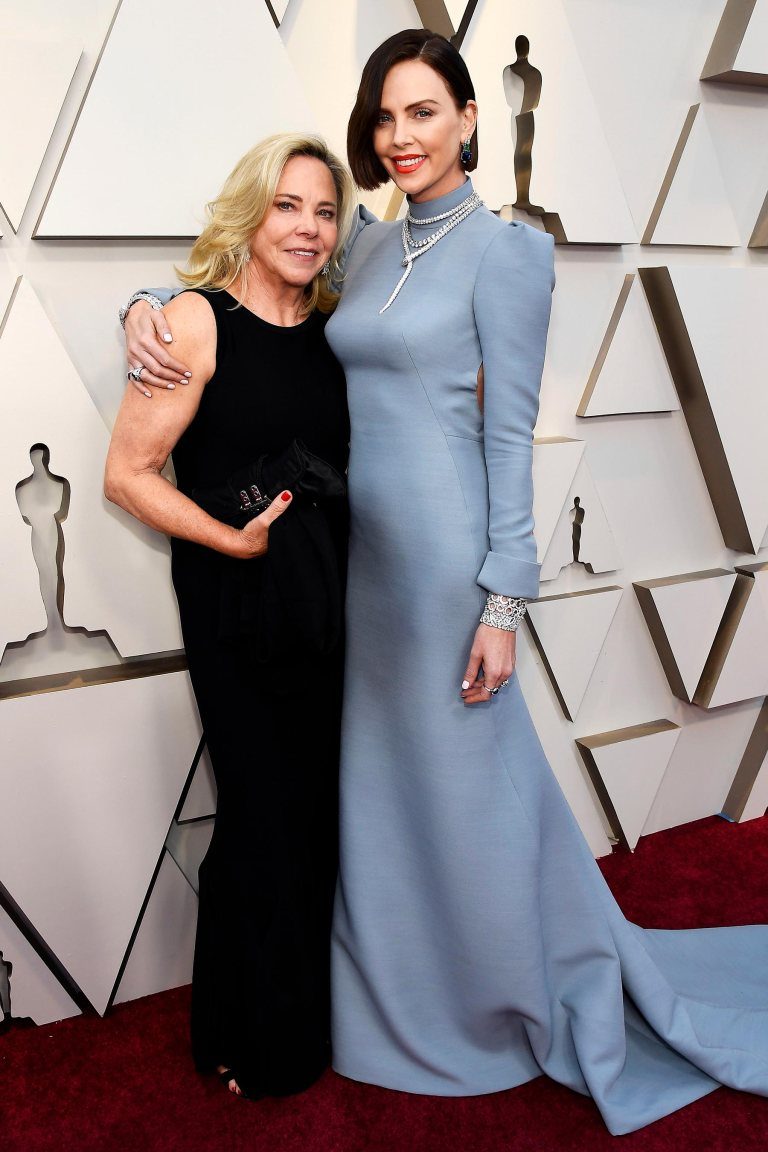 Charlize Theron and Mother Gerda Maritz Oscars 2019