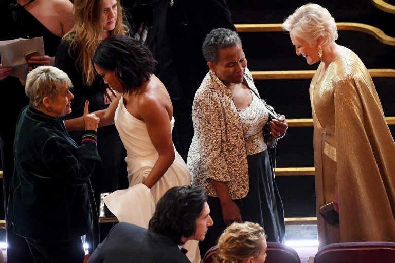 Regina King and Mother Gloria Oscars 2019