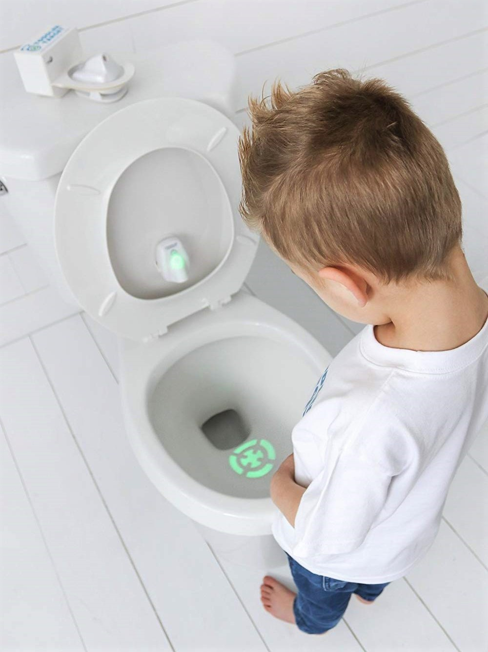 The Toddler Target Toilet Light Aims to Make Potty Training Fun
