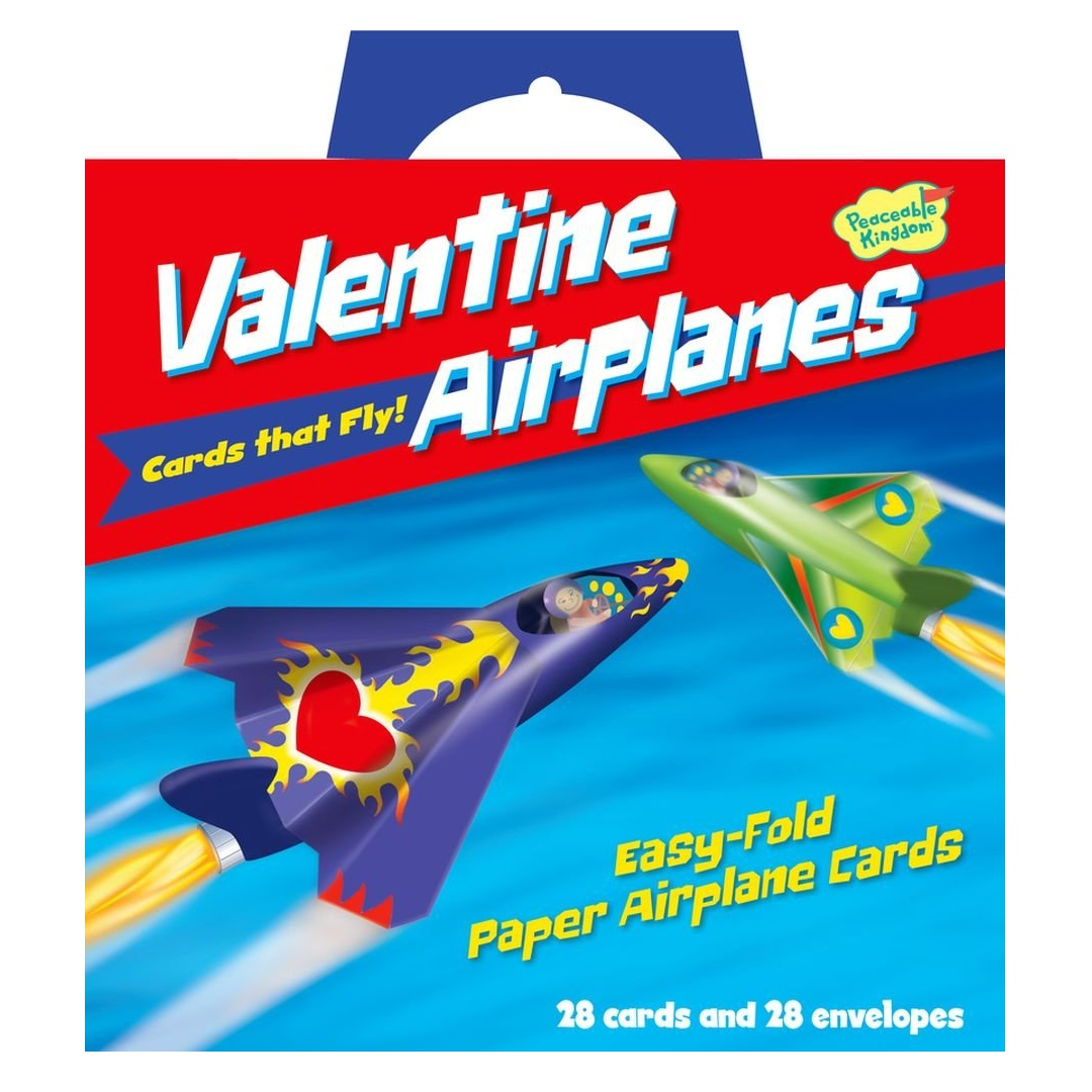 Peaceable Kingdom Valentine Airplanes