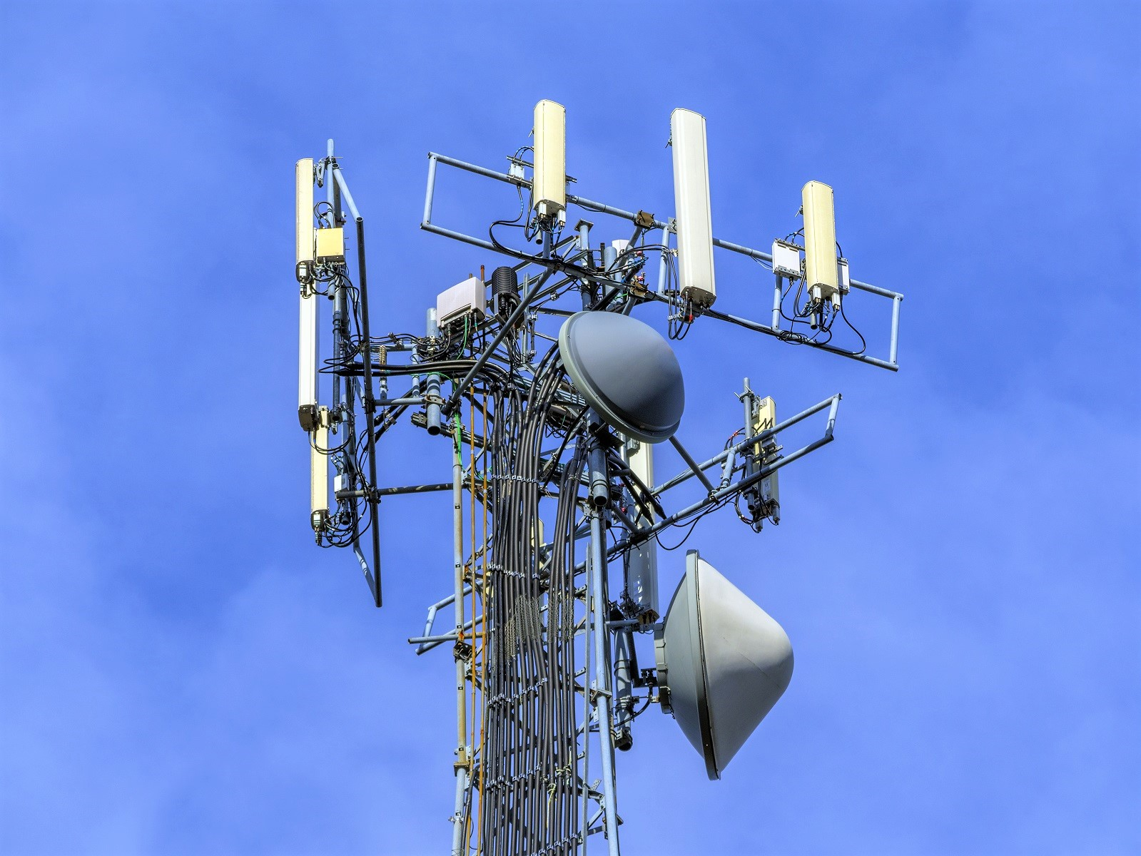 Signal Cell Towers Close Up