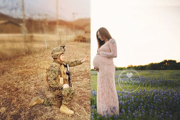 This Long-Distance Military Maternity Photoshoot Will Melt Your Heart