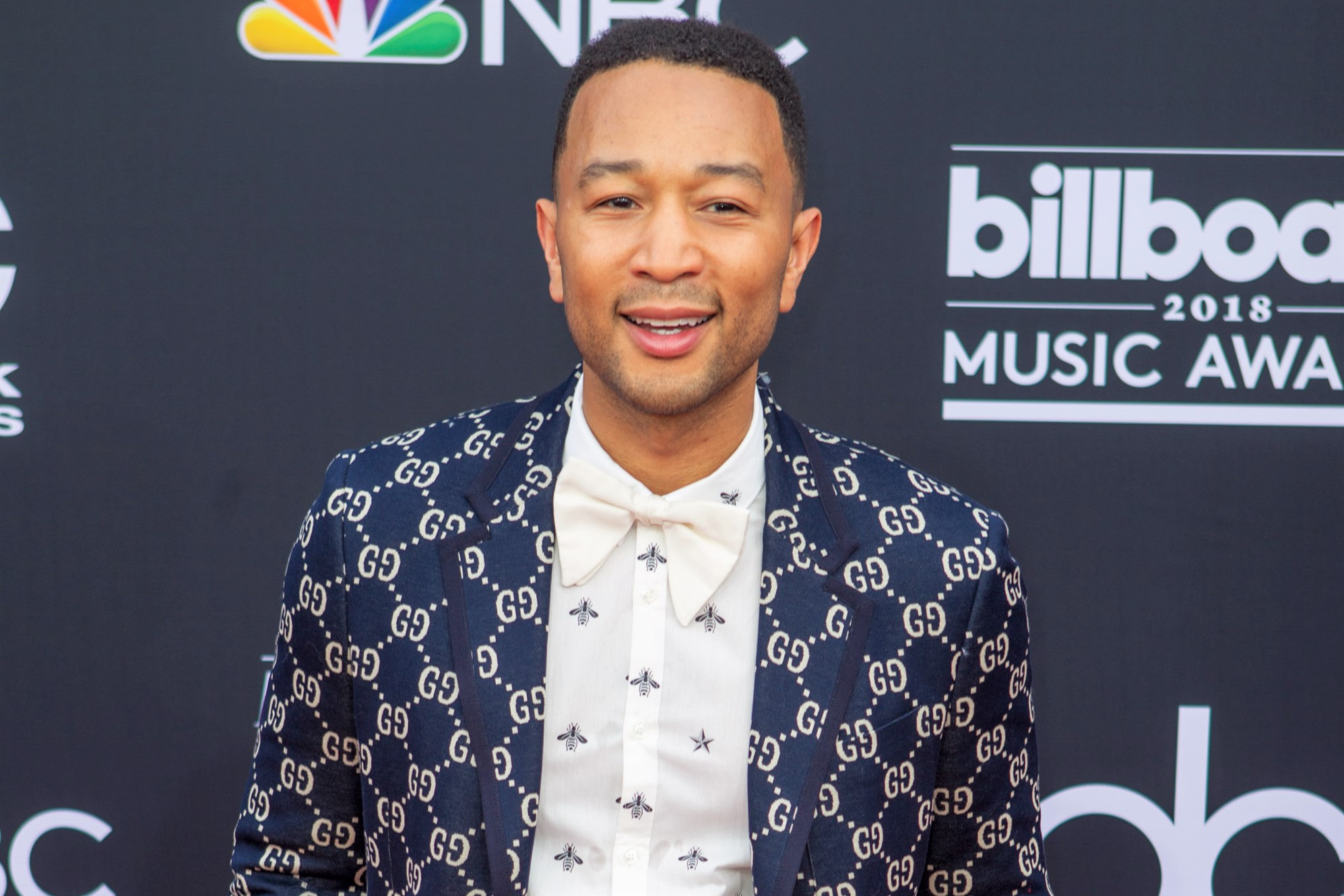 Singer John Legend Gucci Blazer BBMA 2018 Red Carpet