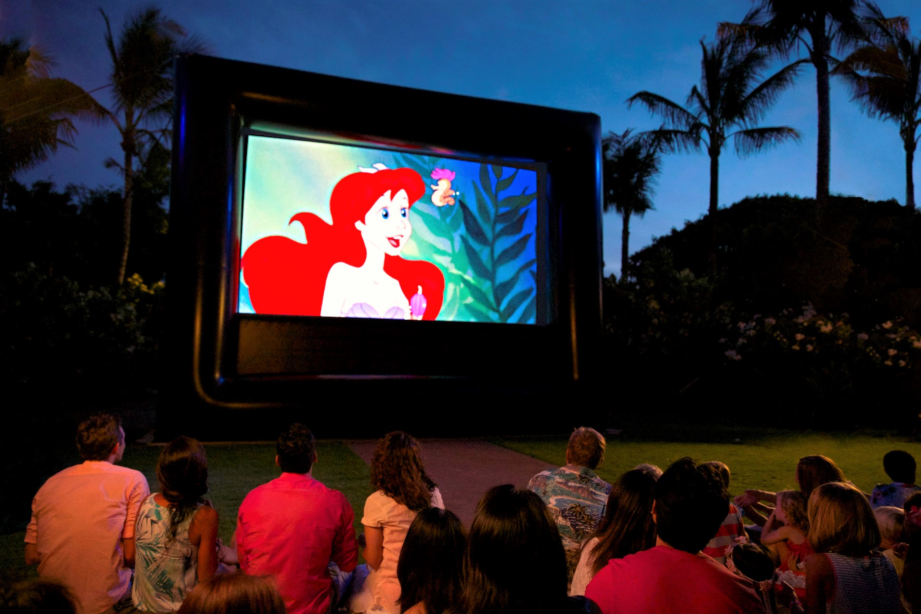 You can watch Disney movies under the stars