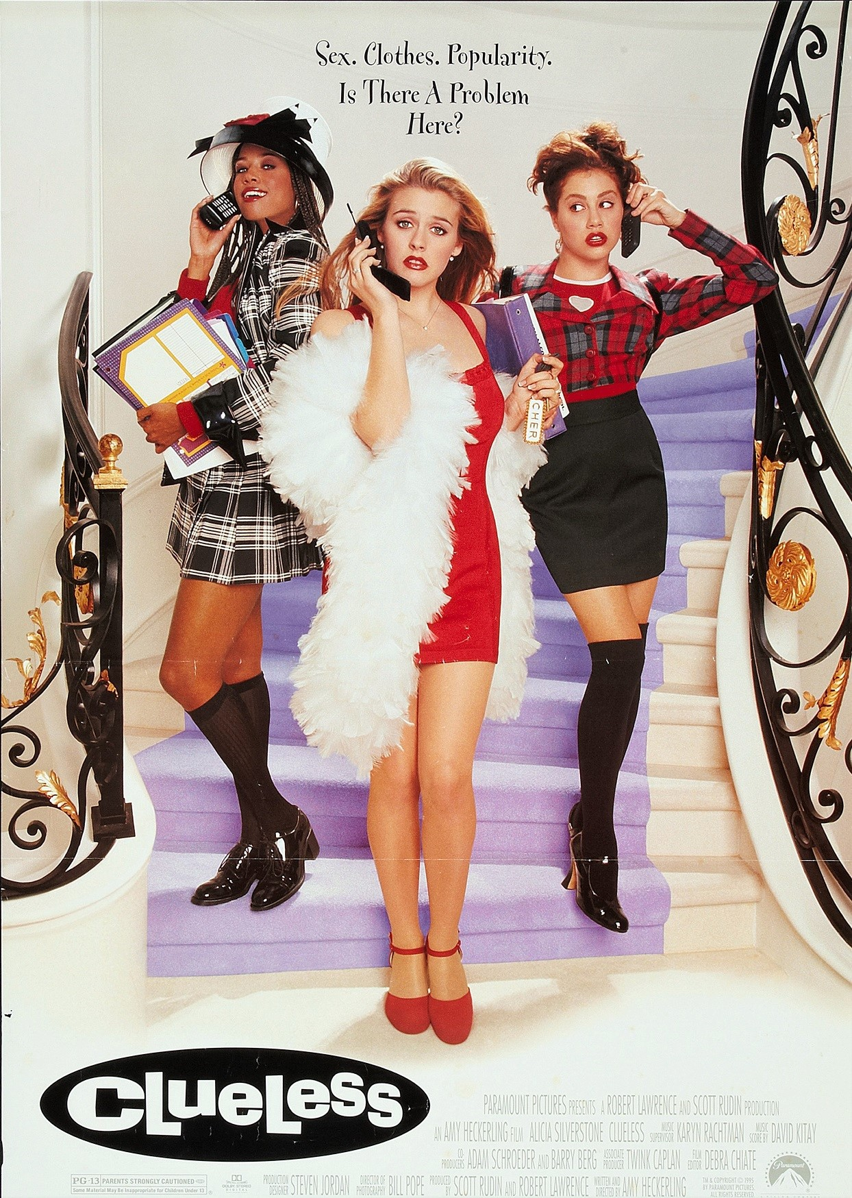 Clueless Movie Poster 1995 Alicia Silverstone Brittany Murphy Stacey Dash