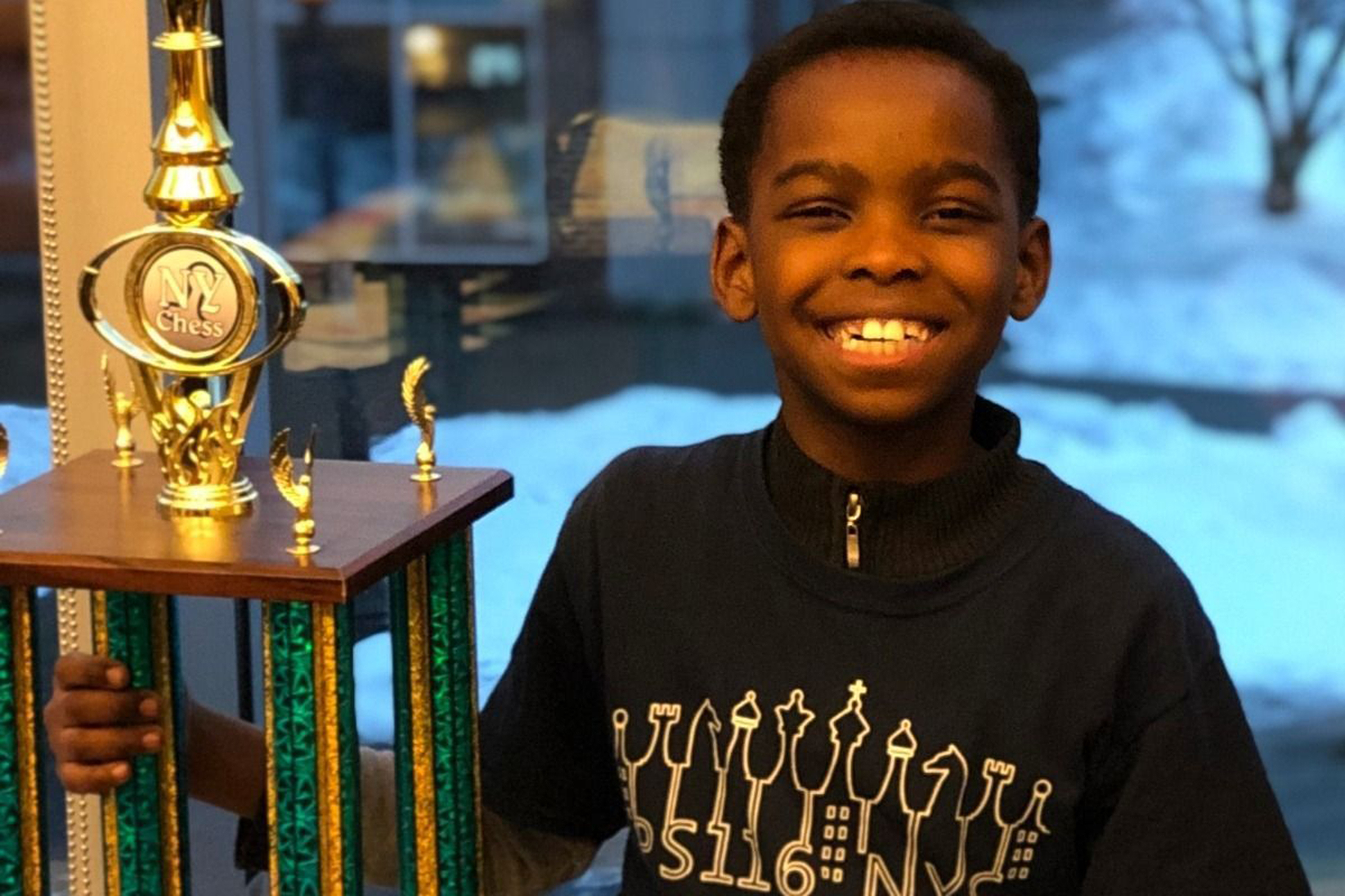 8-Year-Old Homeless Nigerian Refugee Wins New York State Chess Championship