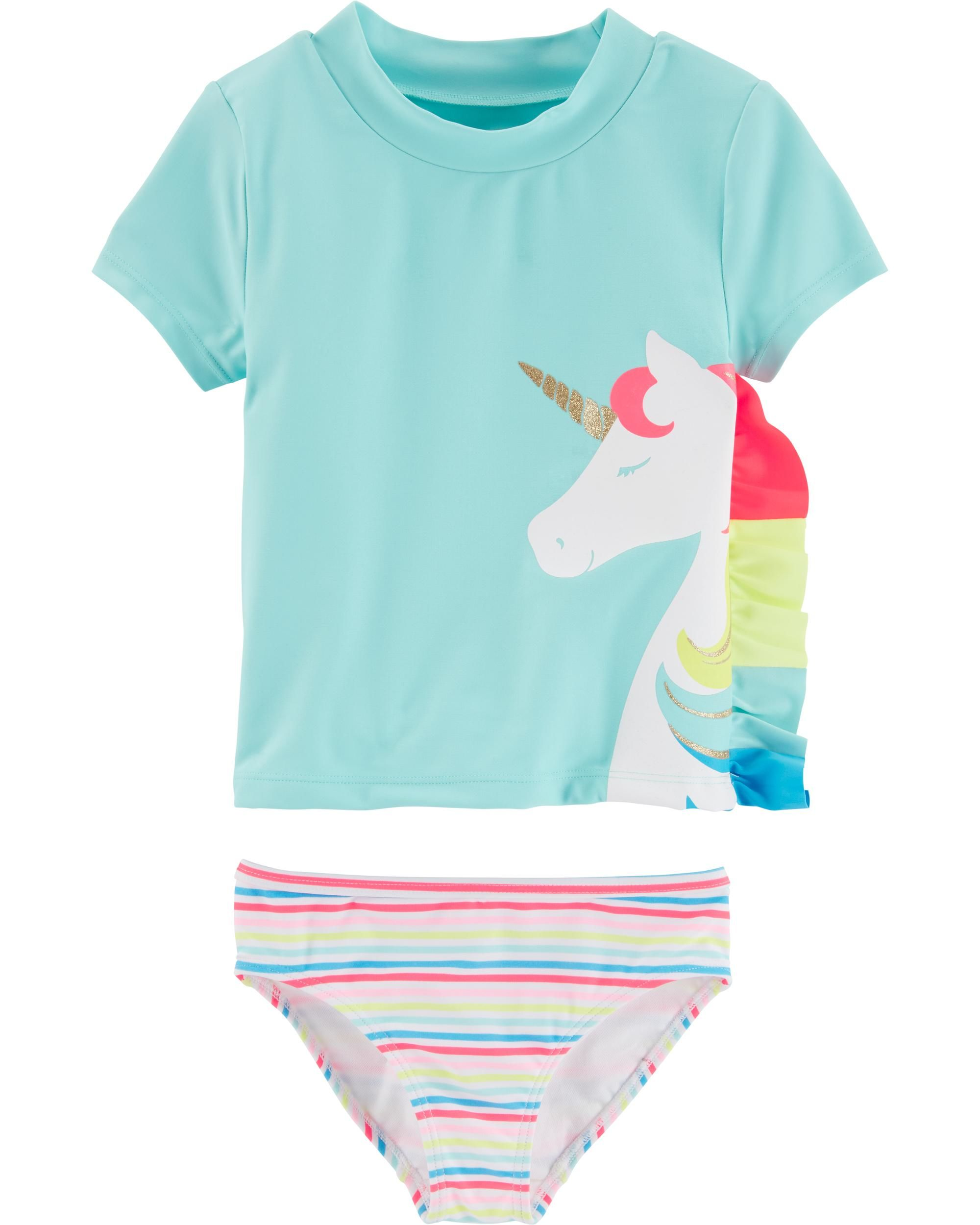 Carter's Unicorn Rashguard Set