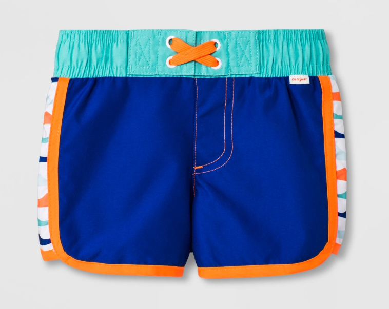 Cat & Jack Pieced Side Swim Trunks