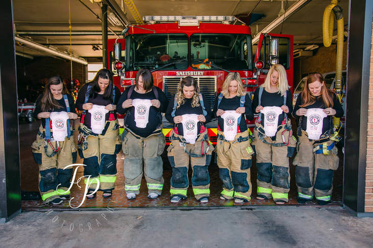 Flashpoint Photography expectant firefighters wives