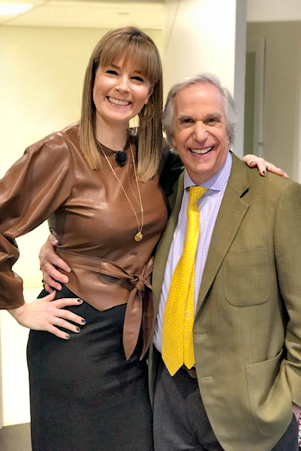 Liz Vaccariello and Henry Winkler