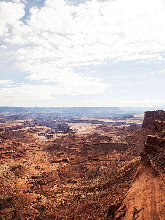 Scenic shot of Canyonlands valley