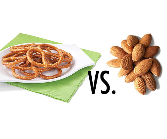 Pretzels vs. Nuts