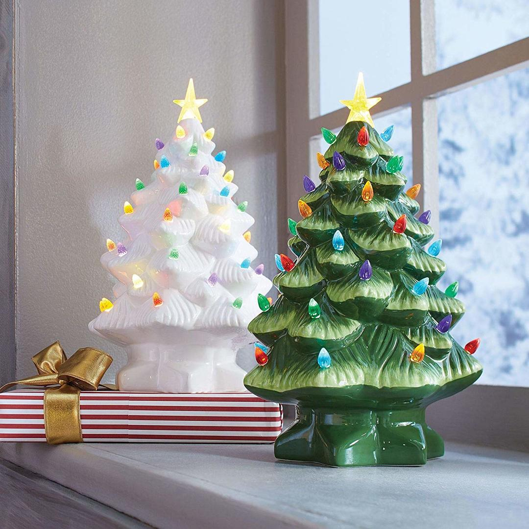 Ceramic Christmas Tree BrylaneHome Nostalgic Tree