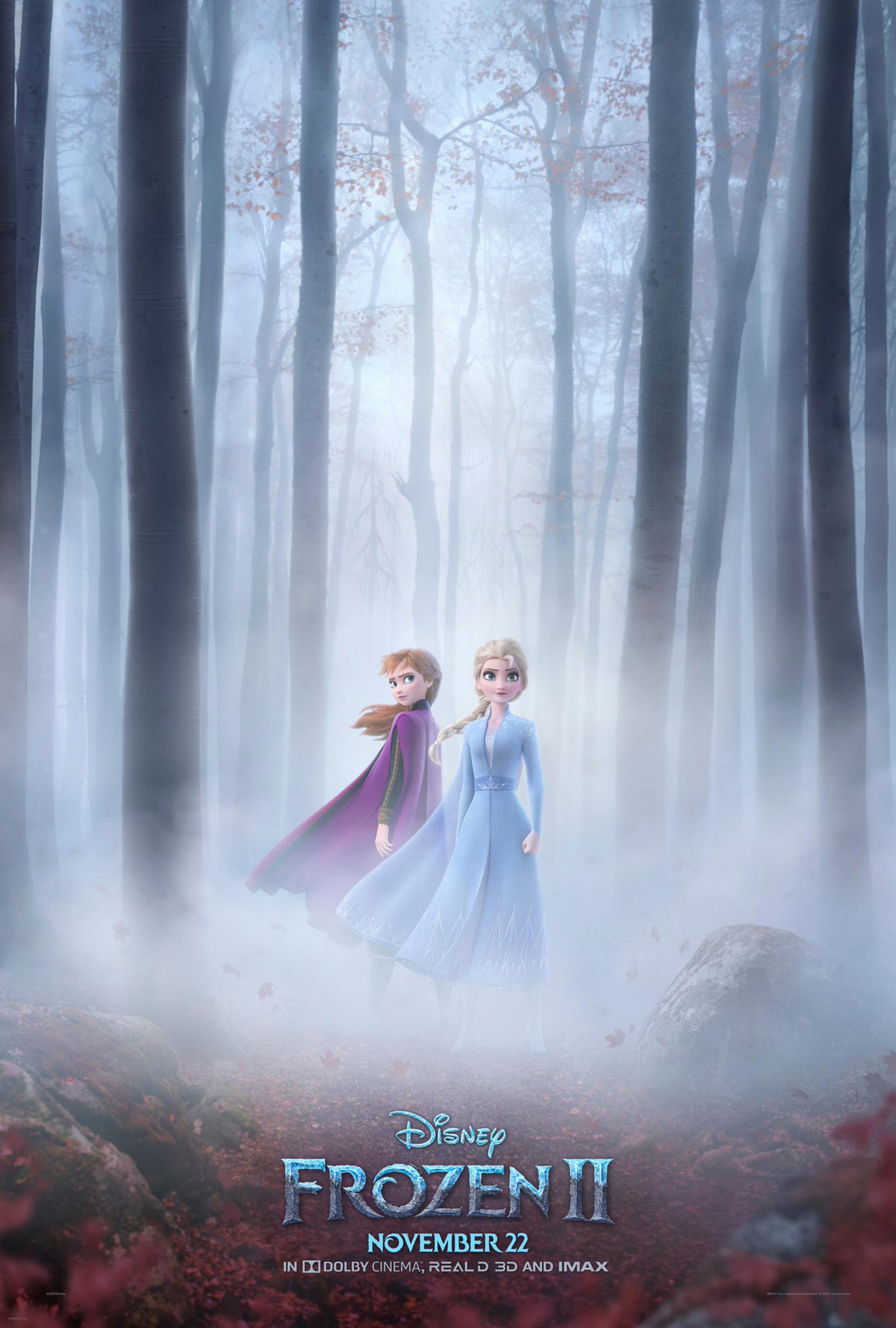 Frozen 2: Elsa and Anna Are All Business in Moody New Poster for Disney Sequel