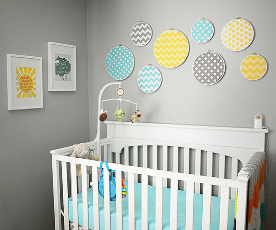 Yellow and teal nursery