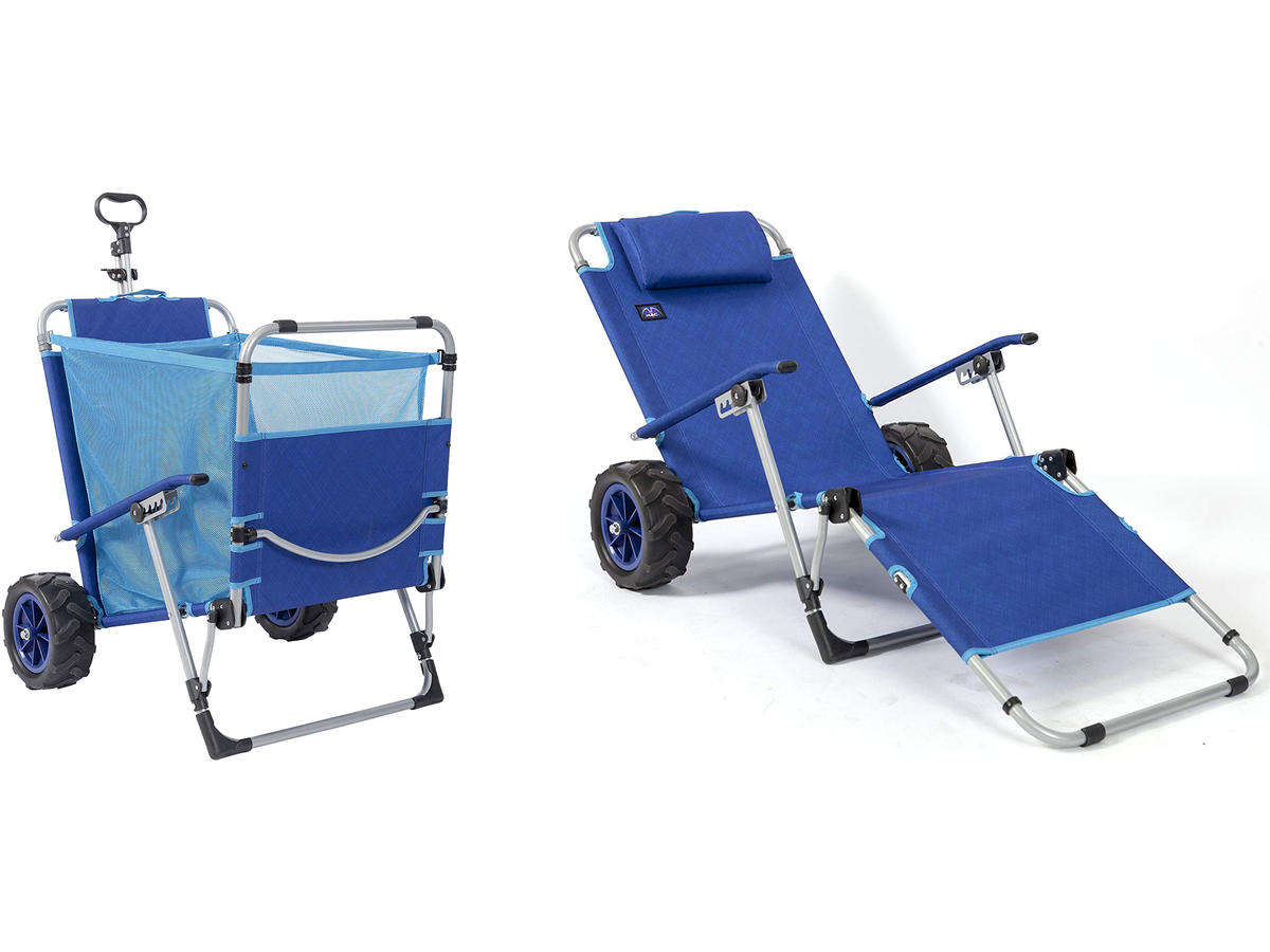 This Comfy Beach Chair Doubles as a Wagon, and Will Save Your Back This Summer