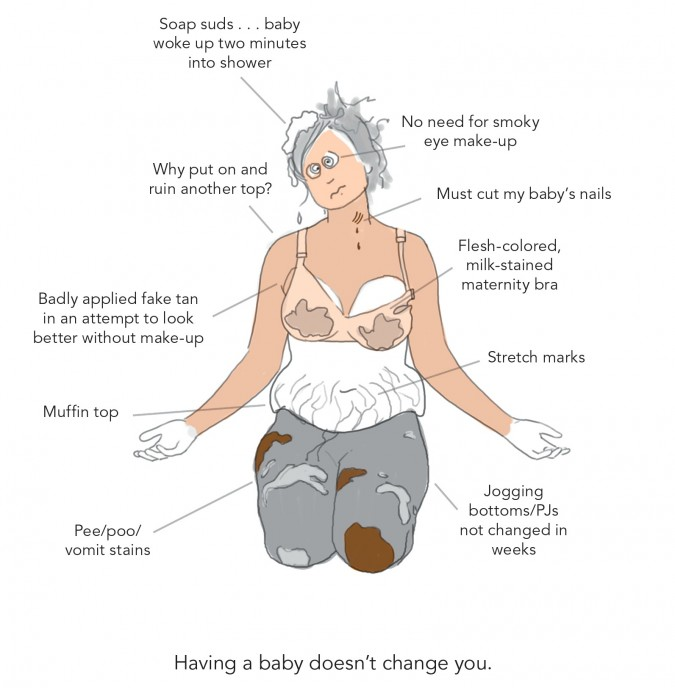 Doodle Diary of a New Mom - Change