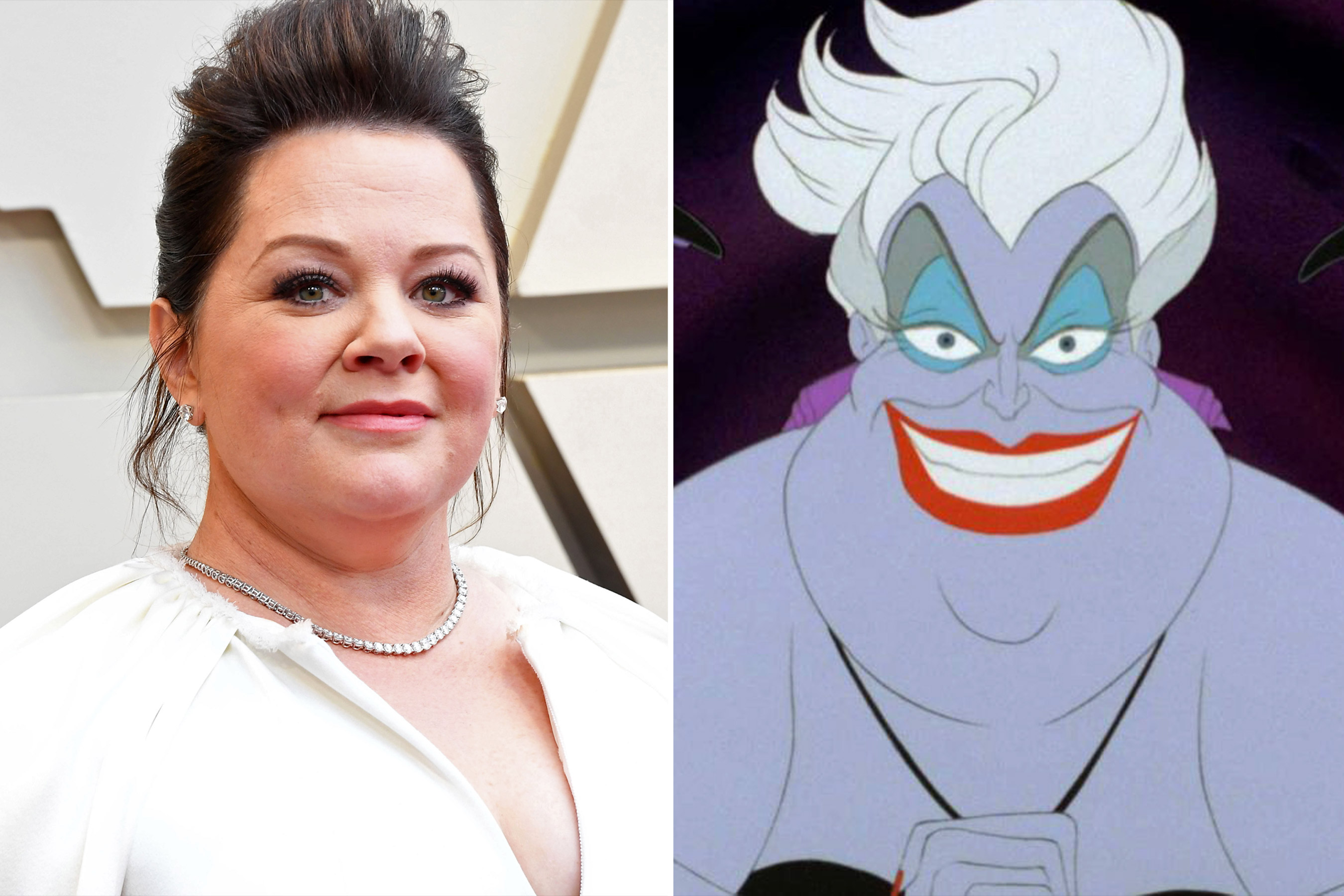 Melissa Mccarthy and Ursula the Little Mermaid