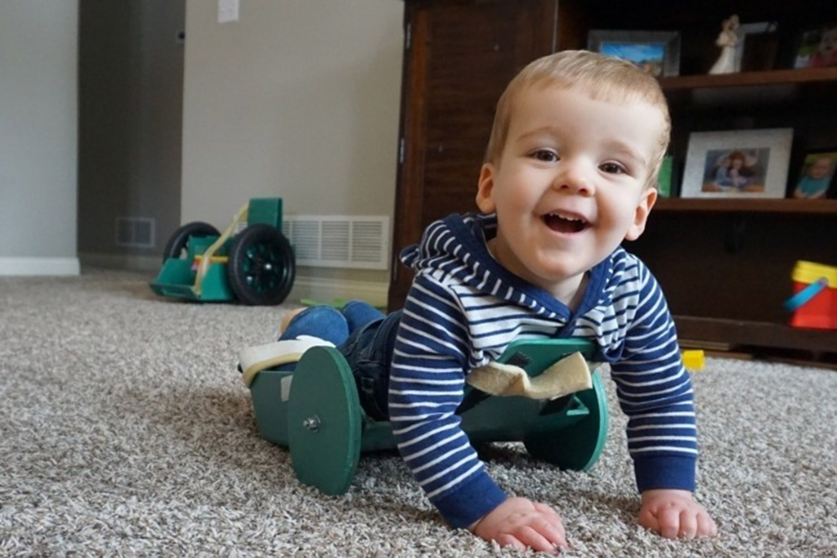 2-Year-Old Boy with Spina Bifida Crawls for the First Time Thanks to Dad's Ambitious Invention