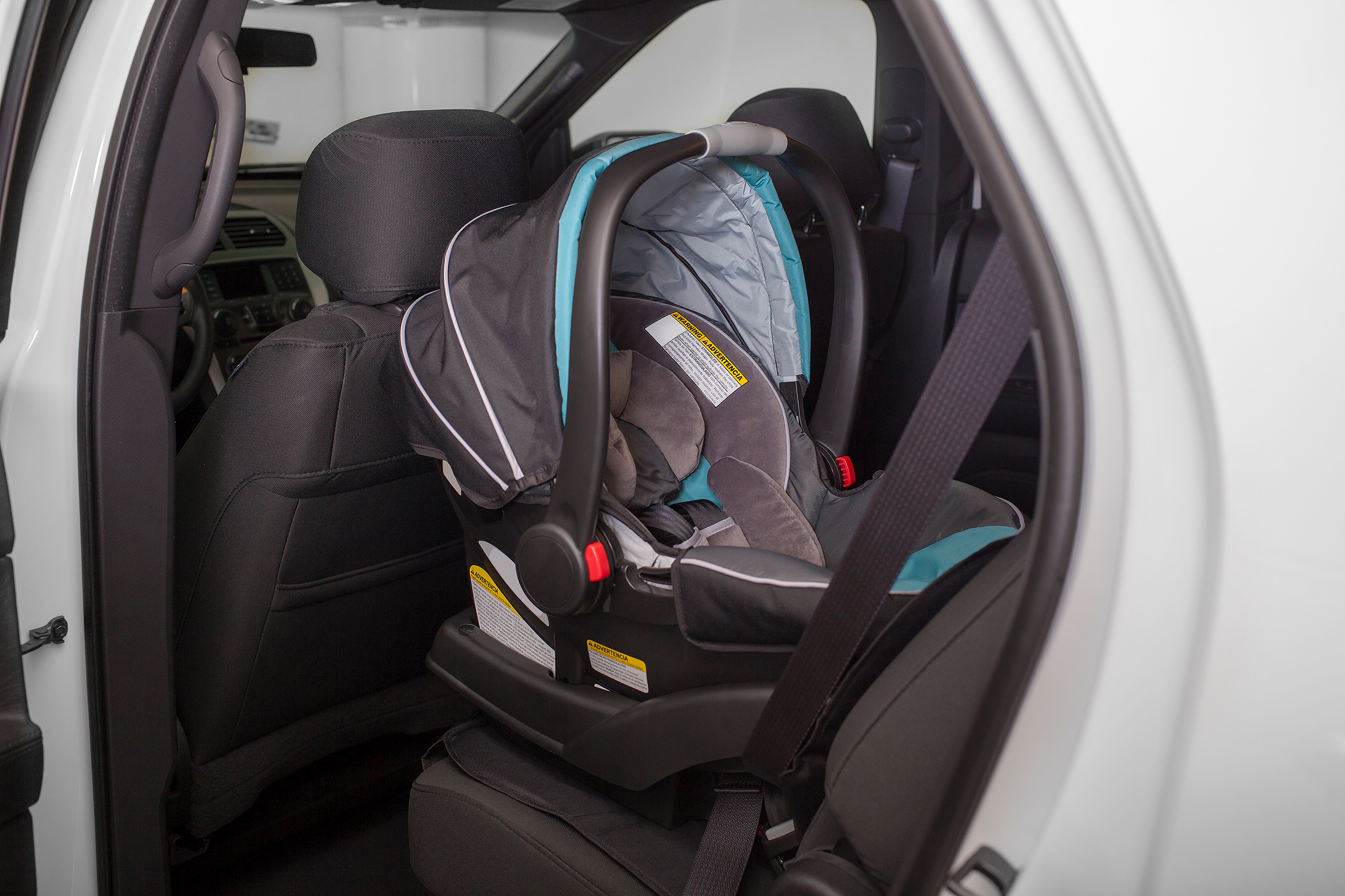 Rear Facing Car Seat in Back of Car