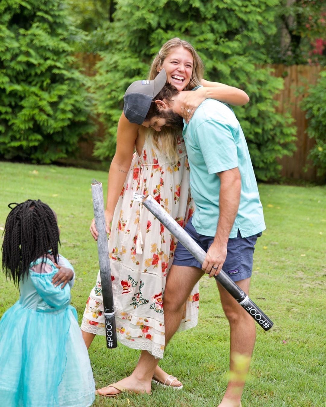 Thomas Rhett and Wife Lauren with Children Laughing Baby Gender Reveal 4