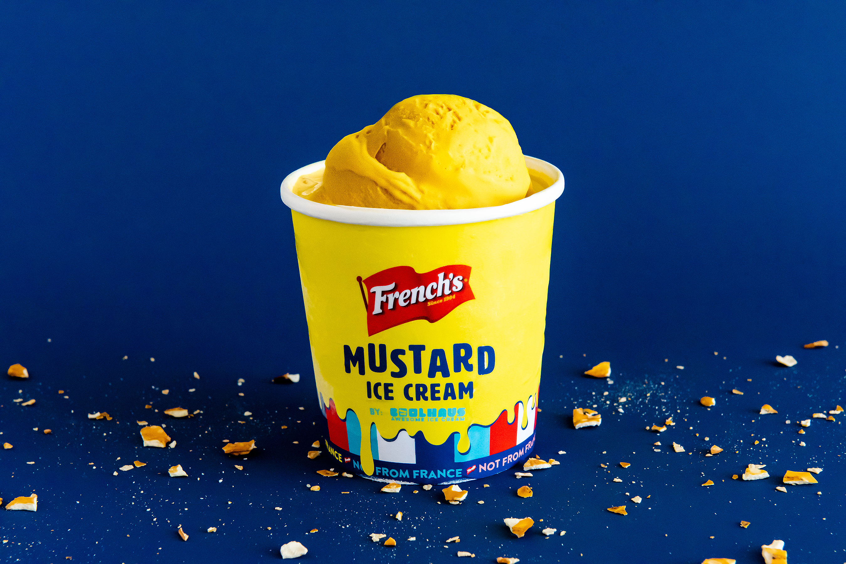 French's Created a Mustard-Flavored Ice Cream and We Reluctantly Tasted It