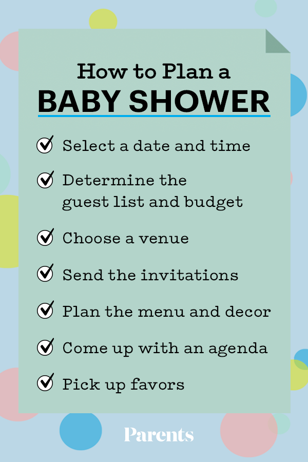 How To Plan A Baby Shower Parents