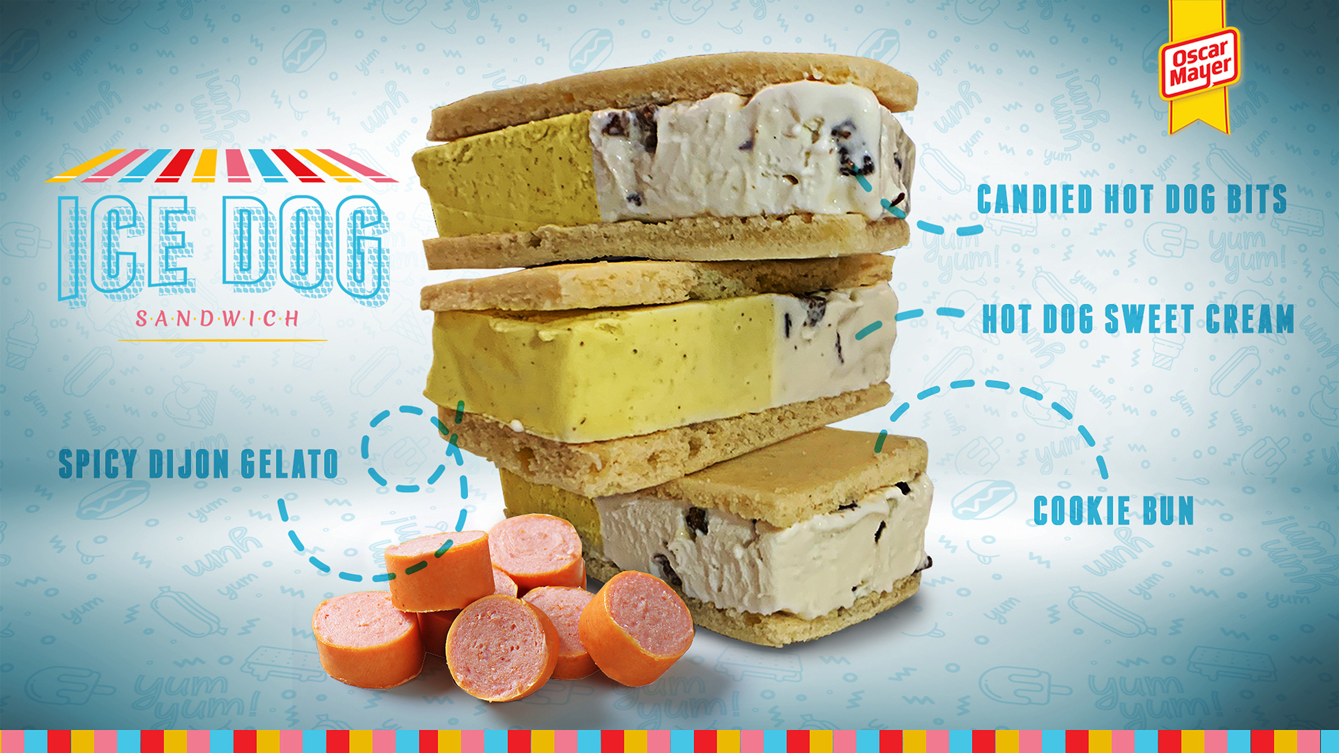 Oscar Mayer Debuts Hot Dog-Flavored Ice Cream with Actual Candied Hot Dog Pieces