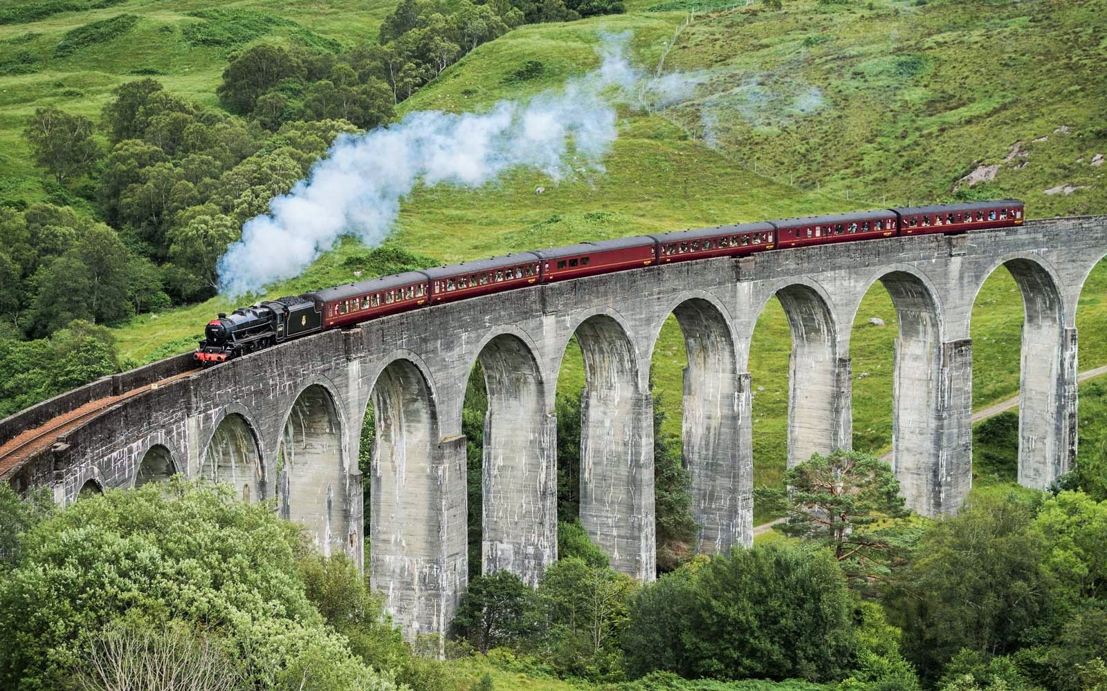 The Jacobite On Glenfinnan Viaduct Train