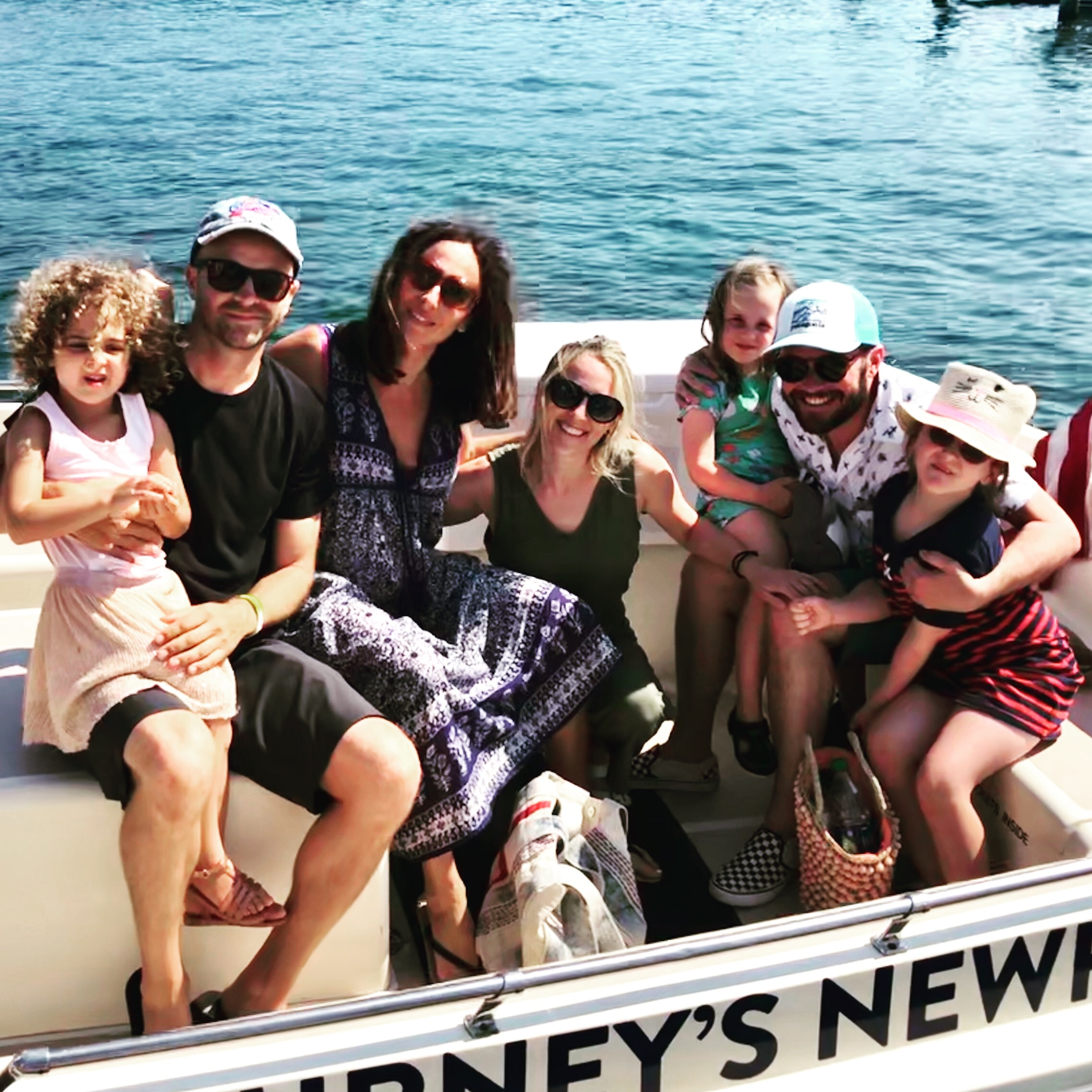 Author with family and friends in Newport