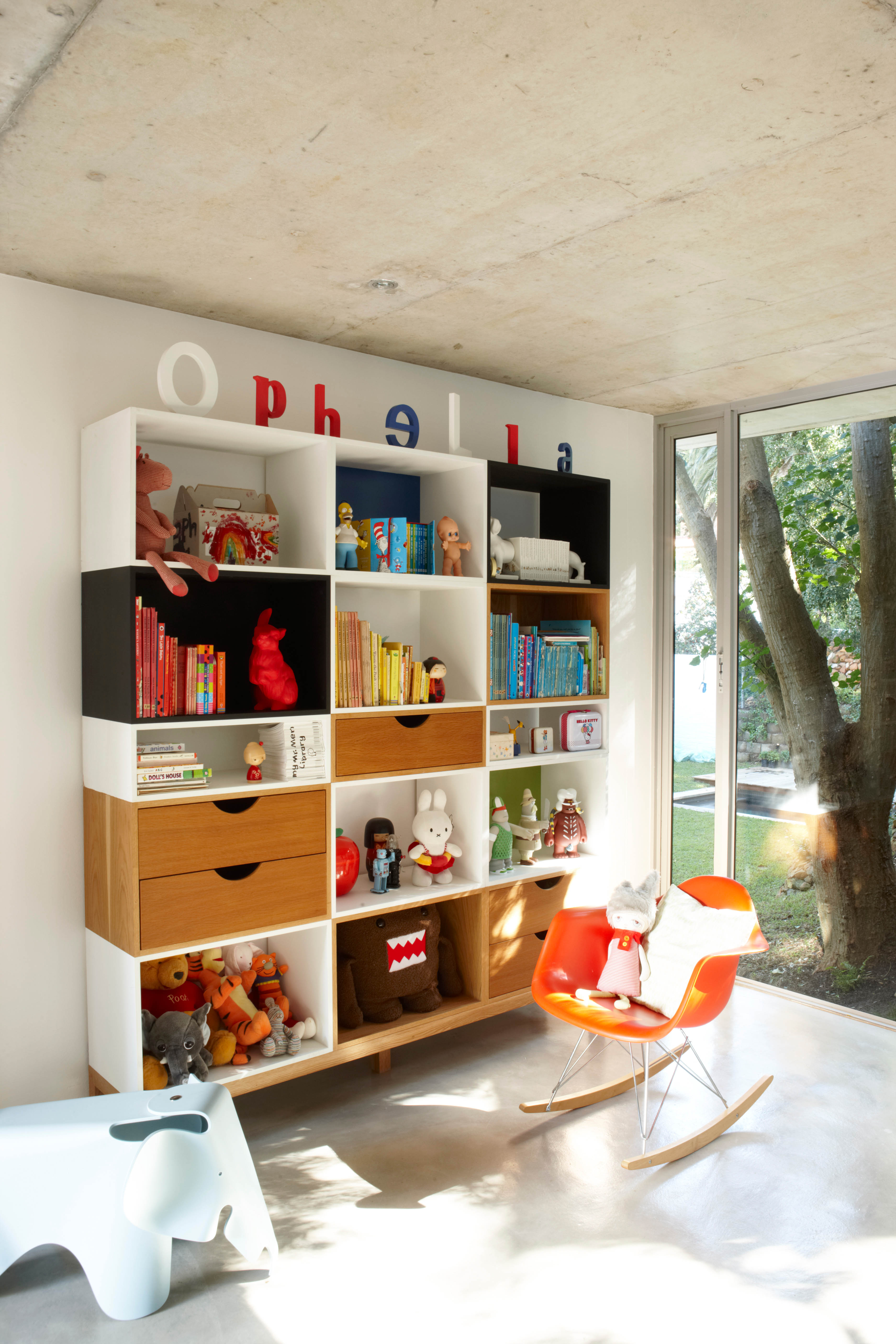 Styled Shelves with Kids Toys