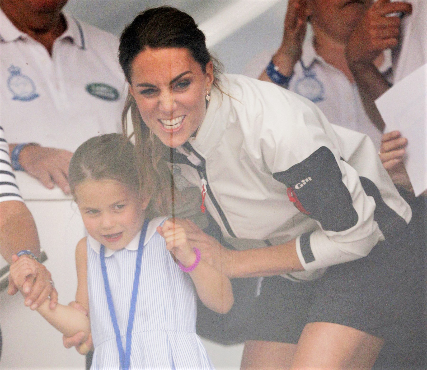 Princess Charlotte and Kate Middleton at Kings Cup